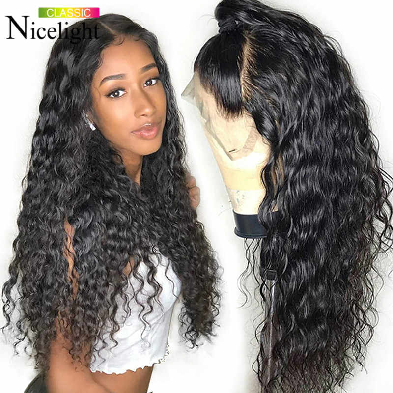 Brazilian Water Wave Wig 150% Lace Front Human Hair Wigs 13x4 Front Lace Wigs Natural Hairline Nicelight Human Hair Lace Wig