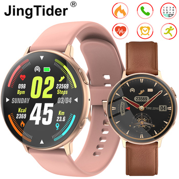 "C6 1.3"" Round Screen Smart Watch Bluetooth Call Smart Watch Heart Rate Blood Pressure Monitor IP67 Waterproof Fitness Tracker"