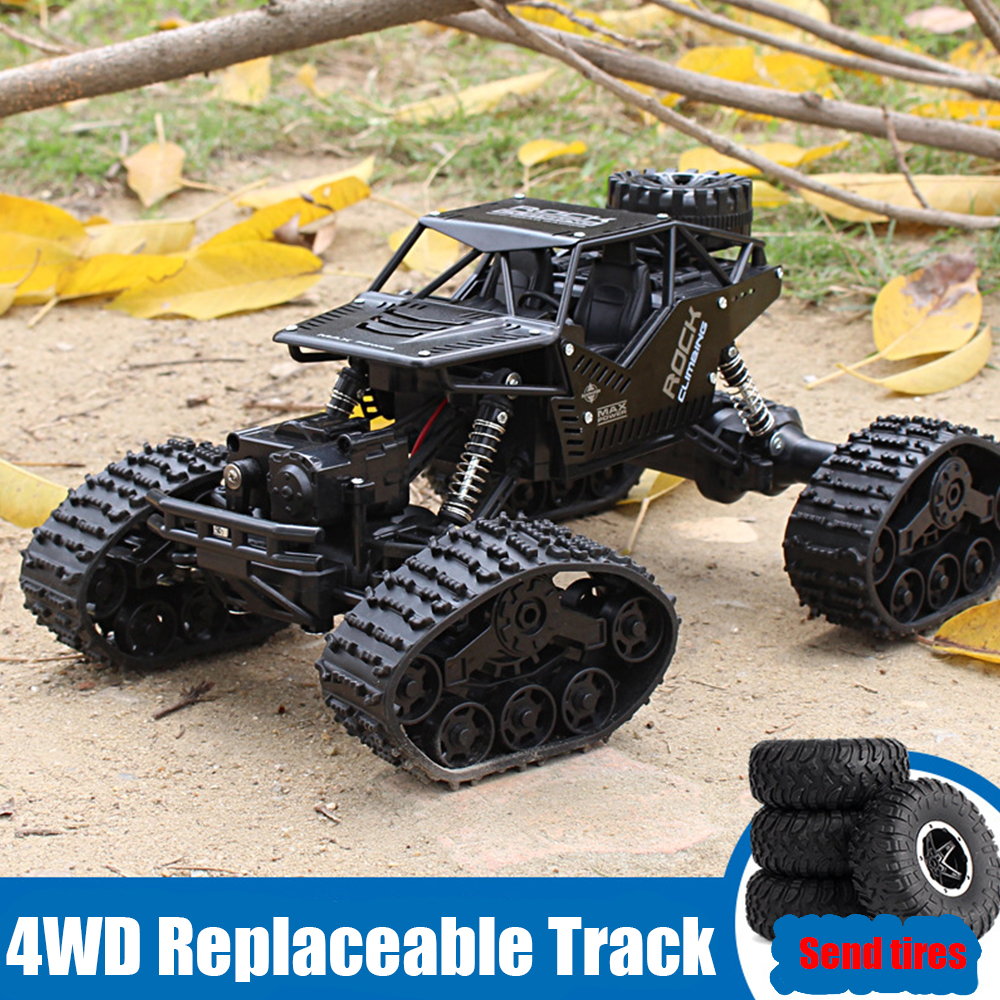 SHAREFUNBAY Rc Car 1:12 4WD Off-road Climbing Remote Control Car 2.4Hz Radio Controlled Car Tracked Rc Car Child Toy