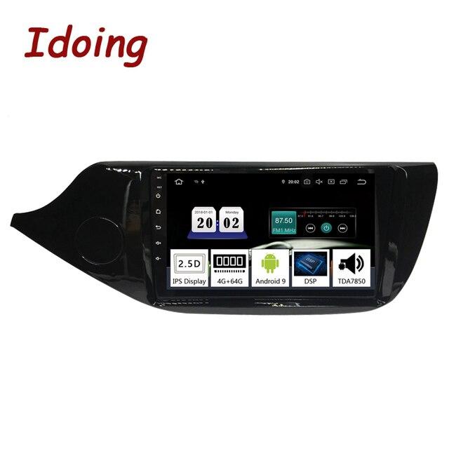 """Idoing 9 """"車 Android9.0 ラジオマルチメディアプレーヤー起亜 cee d CEED jd 2012 2016 PX5 4 グラム + 64 グラム 8 コア GPS ナビゲーション 2.5D TDA 7850"""