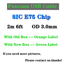 10pcs/lot 100% Original 2m 6ft Foxconn 8ic E75 Chip Data USB Charging Cable For i12 XS Max XR 8 7 Plus 6S 5S SE Charger Cable