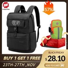Tigernu marka moda ince kadın USB şarj sırt çantası kadın çantası 15.6 Laptop sırt çantası okul çantası erkek kız kadın Mochila