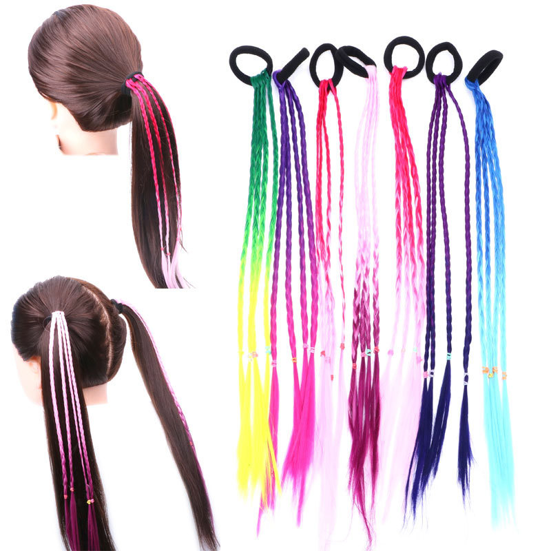 LVHAN African American Children Use Gradual Color ChangeSynthesize Braids Ponytail Braided Hair Boy Girl Party Hair Accessories
