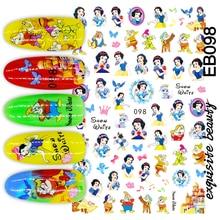 БЭ-98 новый дизайн мультфильм Снежная девушка красочный дизайн 3D ногтей наклейки наклейка аксессуары