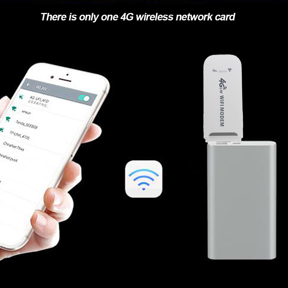 Modem 4G LTE 150Mbps USB Modem Adapter Wireless USB Network Card Universal White WiFi