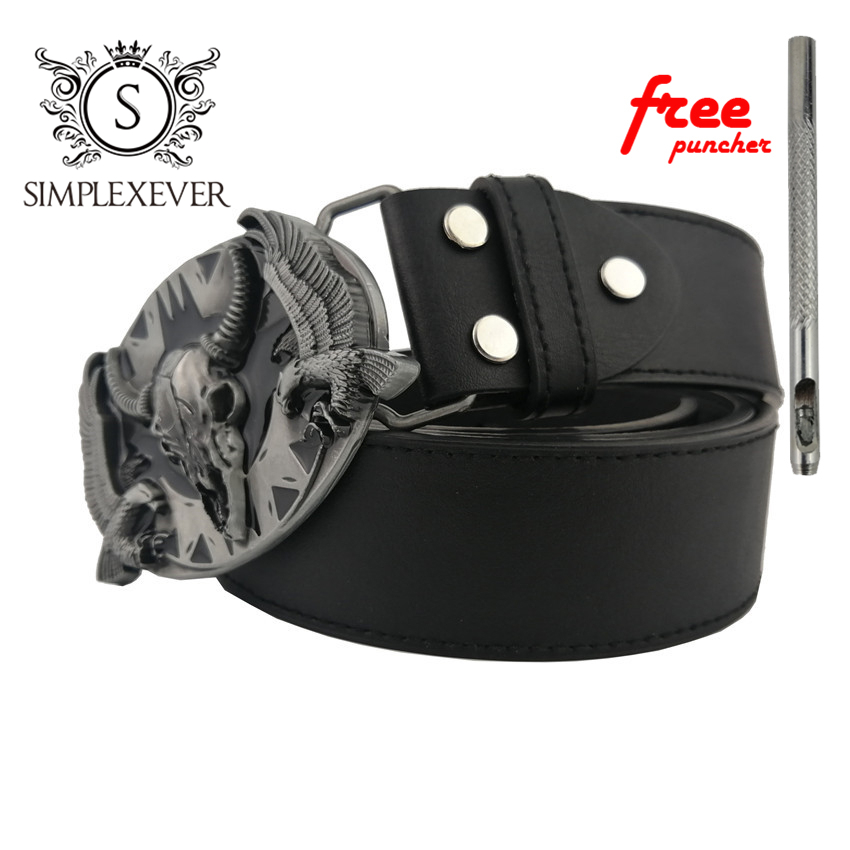 Fashion Mens Belt Buckle Bull Silver Cow Head Leather Belt Buckle Pin West Cowboy Style Rock Belt Clip Cow Leather Belts