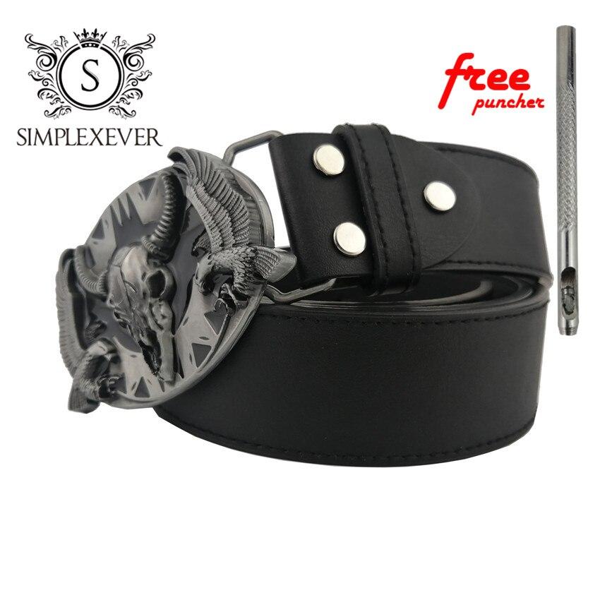 Fashion Mens Belt Buckle Bull Silver Cow Head Leather Belt Buckle Pin West Cowboy Style Rock Belt Clip Cow Leather Belts