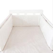 Детская кроватка с принтом бампер двухсторонняя Съемная детская