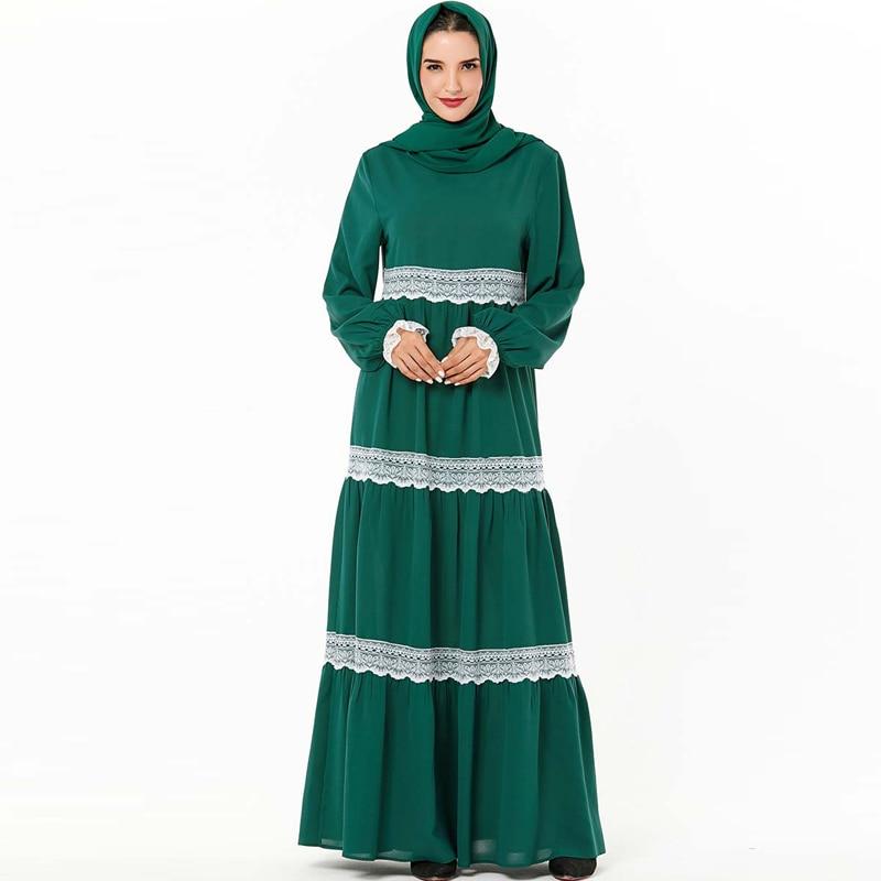 Lace Kaftan Abaya Dubai Turkish Dresses Hijab Muslim Dress Islamic Clothing Abayas For Women Saudi Arabia UAE Caftan Robe Islam