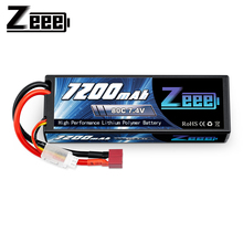 Zeee 7.4V 80C 7200mAh Lipo Battery with Deans Plug 2S Lipo Battery for RC Car RC Truck RC Boat Losi Slash Truggy