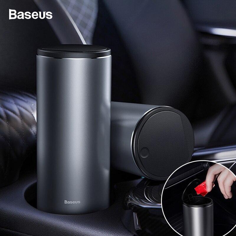 Baseus Universal Car Trash Can Garbage Bag Bin Holder Automobile Organizer Dustbin Storage Trashcan With Lid Accessories For Car
