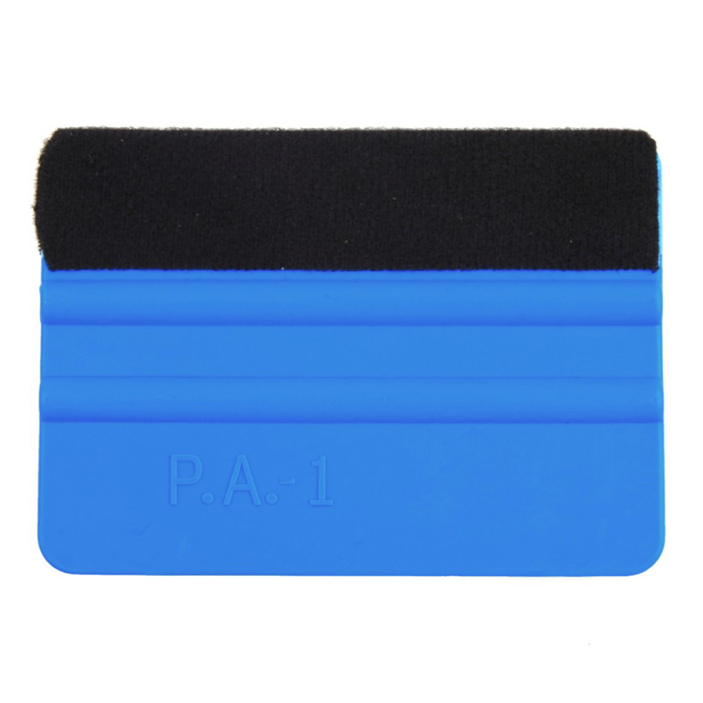Durable Felt Wrapping Scraper Squeegee Tool For Car Window Film Blue