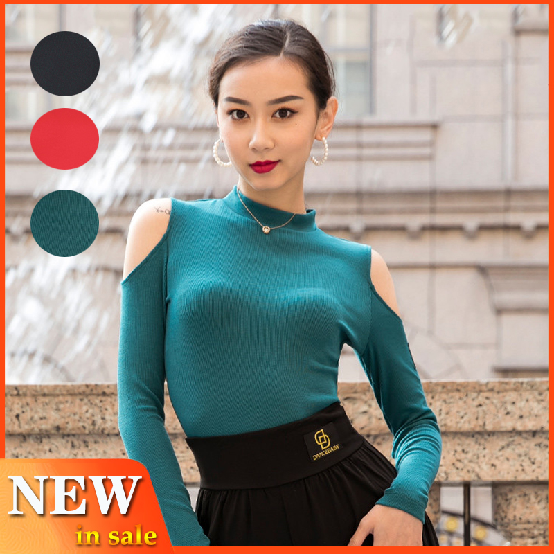 Latin Dance Clothes Practice Tops Adult Dance Dress Women Competition Costume 2019 New Modern Dance Top Long Sleeve Shirt Bl2941
