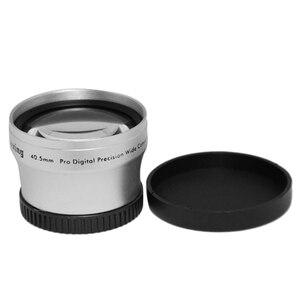 Image 4 - NEWYI عالية الدقة كاميرا كاميرا عدسة 40.5 مللي متر 0.45X زاوية واسعة + عدسة تحويل ماكرو 40.5 0.45 الفضة