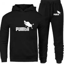 PUMBA 2020 Neue Mode Männer Hoodies Anzüge Trainingsanzug Männer/Frauen Sweatshirts + Jogginghose Herbst Winter Fleece Mit Kapuze Pullover