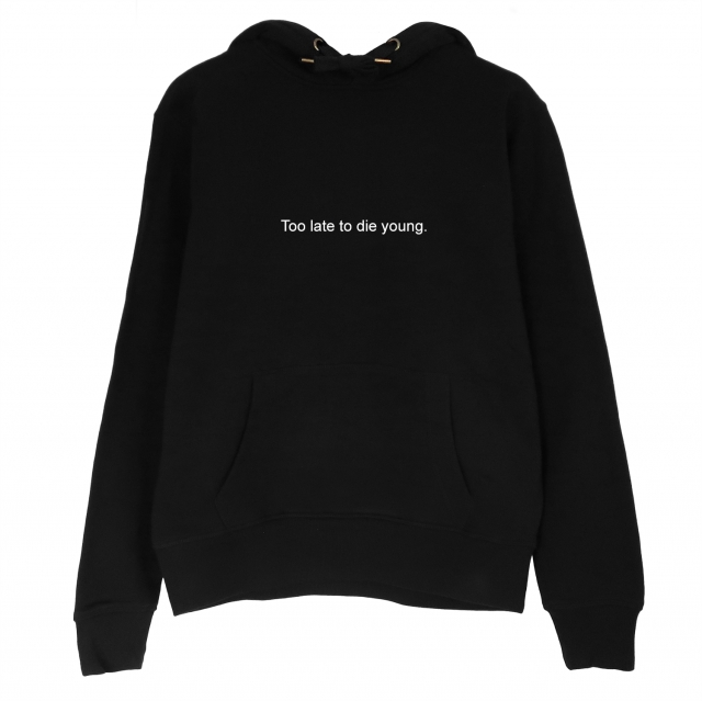 XINKAI  Too Die Young Hoodie Women Long Sleeve Casual Tops Funny Graphic Sweatshirts Top Sweats Hoody Pullovers Outfit Hoodies