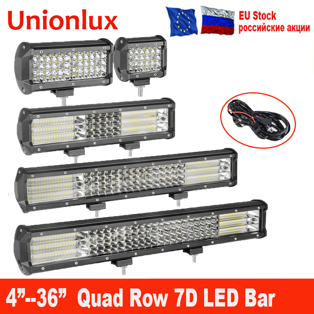 Quad Row 4/7/17/20/23/28/36 inch LED Work Light Bar Offroad ATV 12V 4X4 Spot Flood for SUV Truck Fog LED Driving Light LED Bar