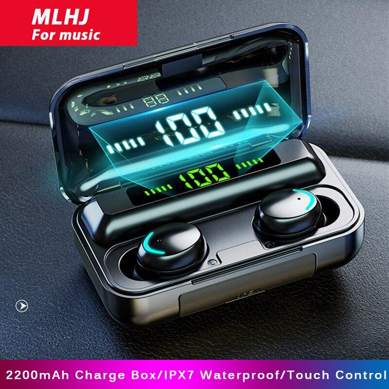 TWS-стереонаушники MLHJ с поддержкой Bluetooth 5,0 и зарядным футляром на 2200 мА · ч