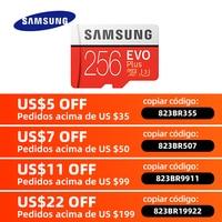 Original SAMSUNG Micro SD karte 32GB Class 10 Speicher Karte EVO + EVO Plus microSD 256GB 128GB 64GB 16GB TF Karte cartao de memoria