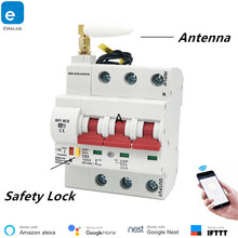 eWeLink 3P 16A-125A Remote Control Wifi Circuit Breaker/smart switch/ Intelligent automatic Recloser support alexa and google