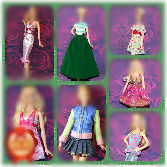 30cm Doll Dress Fashion Clothes handmade outfit For Barbie Doll Accessories Baby Toys Best Girl' Gift 1