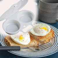 Kitchen Microwave Oven Round Shape Egg Steamer Cooking Mold Egg Poacher Kitchen gadgets Fried Egg Tool