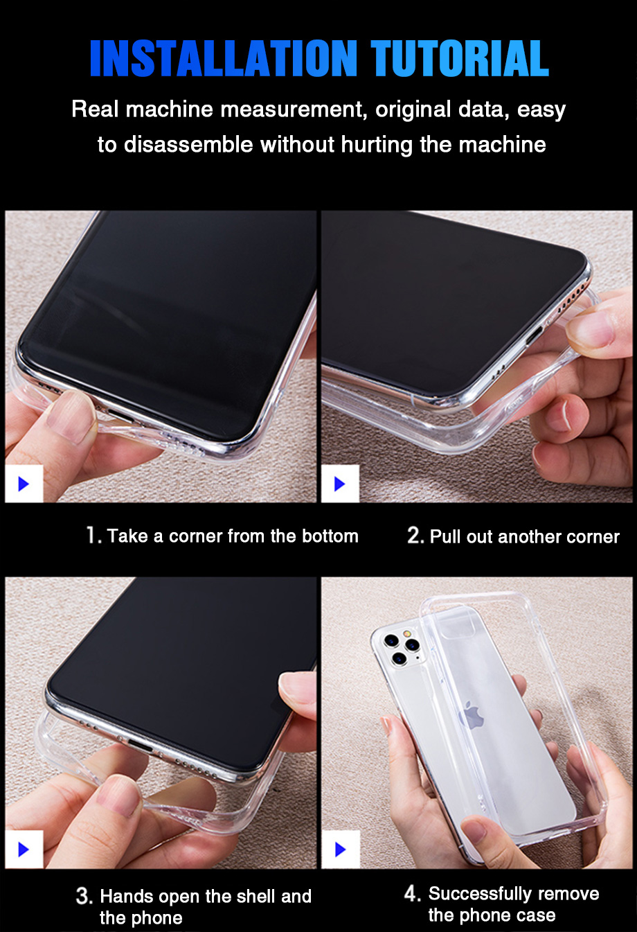 Hb331f12c7f9d469da1613099bb49d5c3w - Ultra Thin Clear Silicone Phone Case For iPhone 11 Pro Max Case iphone XR XS Max X 7 8 6 6S Plus Soft TPU Transparent Back Cover