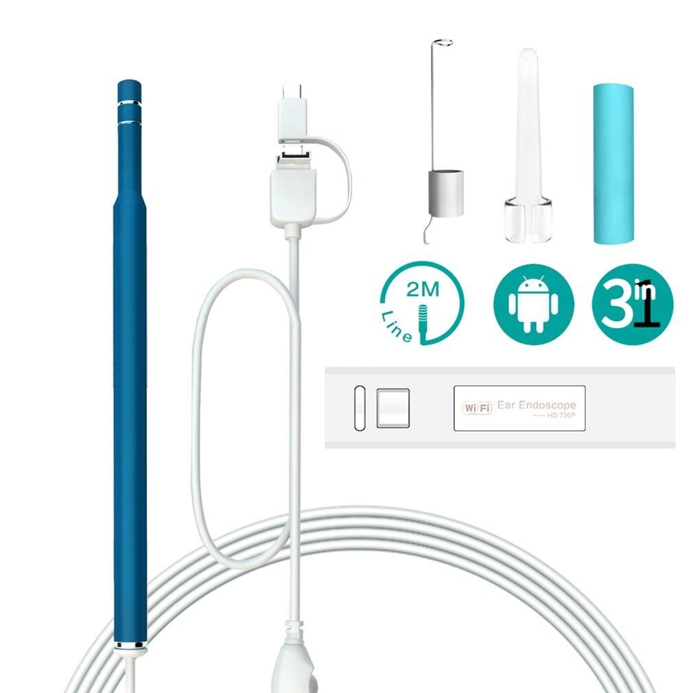 3 en 1 endoscopio Visual del canal auditivo limpiador auditivo con 1,3 cámara con megapíxeles endoscopio Kit de extracción de cera de los oídos herramienta salud cuidado caliente