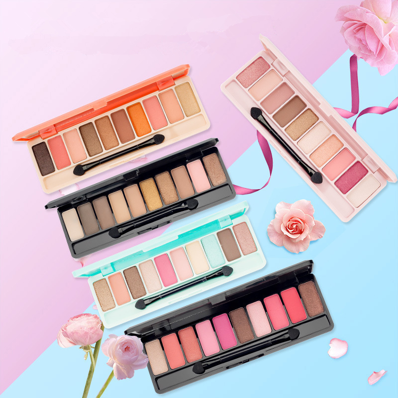 Image 4 - ブランド桃マットアイシャドウパレット赤防水ピンク桜グリッターアイ Palet 韓国化粧品 Oogschaduw D43    グループ上の 美容