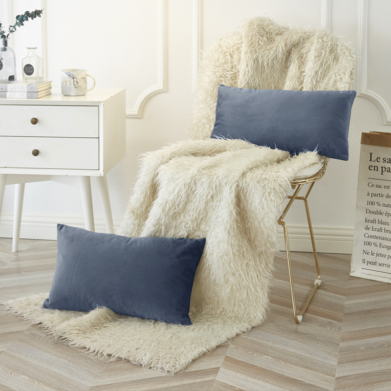 PHF Luxury Velvet Chair <font><b>Cushion</b></font> <font><b>Cover</b></font> Pillow <font><b>Cover</b></font> Pillow Case Green Blue Purple Home Decorative Sofa Throw Pillow <font><b>30</b></font> x <font><b>50</b></font> cm image