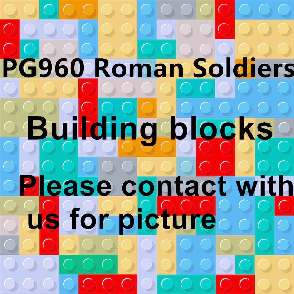 포고 100pcs pg960 로마 군인 영웅 빌딩 블록 벽돌 액션 최고의 선물 아기 장난감-에서블록부터 완구 & 취미 의  그룹 1