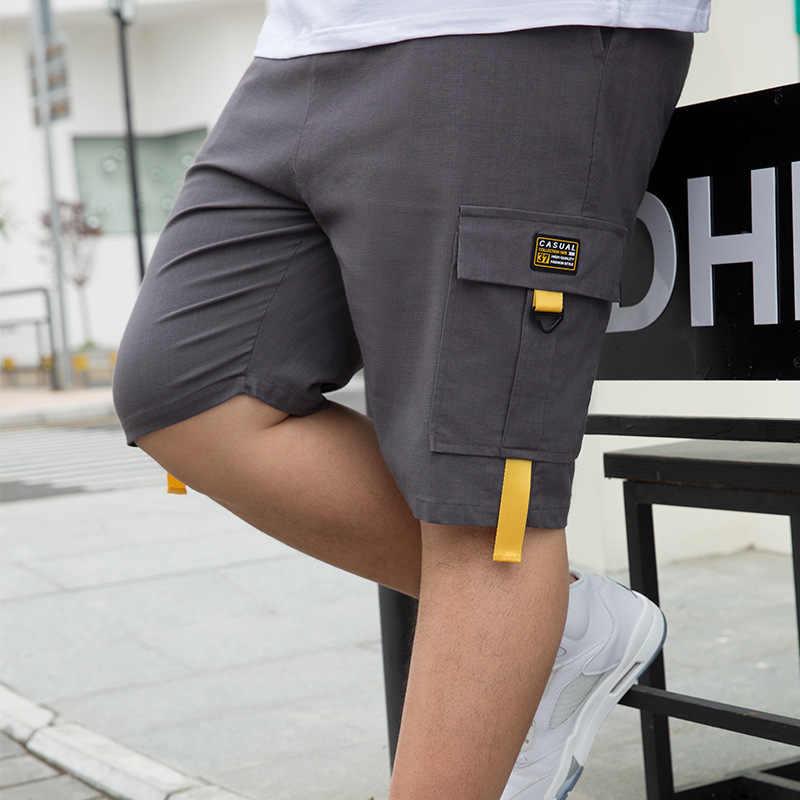 Kore tarzı 28-50 inç erkek şort kargo 2020 yaz rahat daha büyük cep klasik % 95% pamuk marka erkek kısa pantolon pantolon