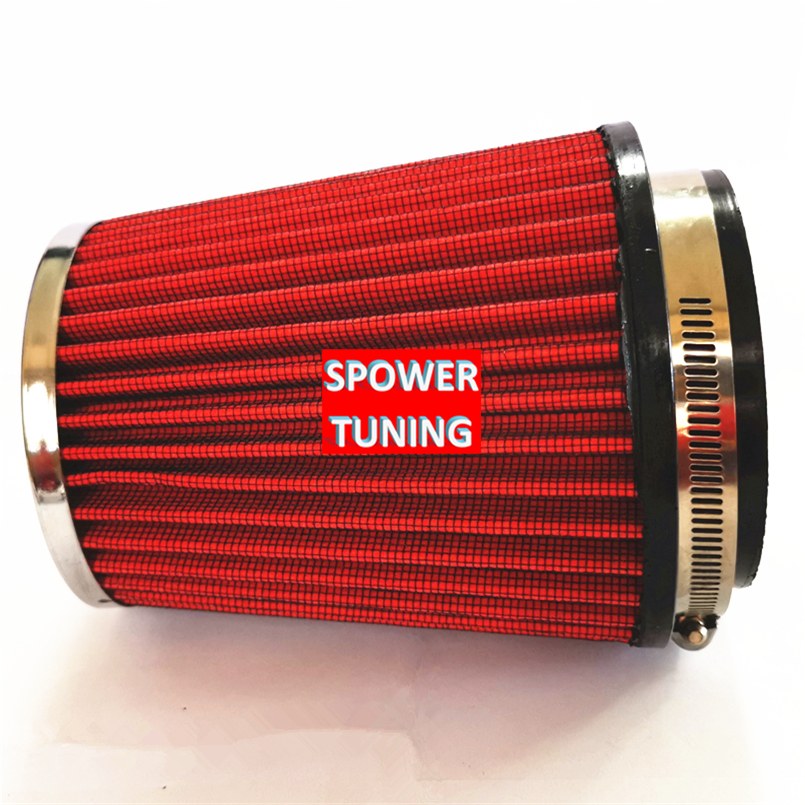 "3.5/"" Cold Air Intake High Flow Racing TRUCK FILTER Universal RED For Volkswagen"