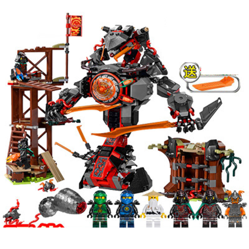 NEW 734pcs Ninja 10583 Dawn of Iron Doom DIY Model Building Kit Blocks Figures Toys Playset Compatible <font><b>Legoinglys</b></font> <font><b>70626</b></font> image