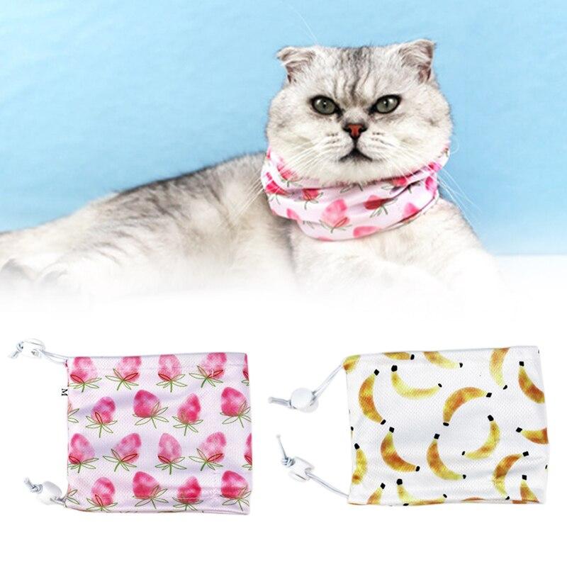 Dog Cooling Bandana Pet Dog Cat Self Cooler Necklace Ice Cooling Scarf Collar for Summer Travel MU8669