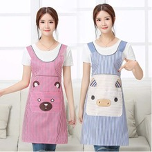 Cartoon Bear Waterproof Apron Cooking Bib for Restaurant Chefs Kitchen Cooking Baking Apron Home Cleaning Tool Accessories 1PC
