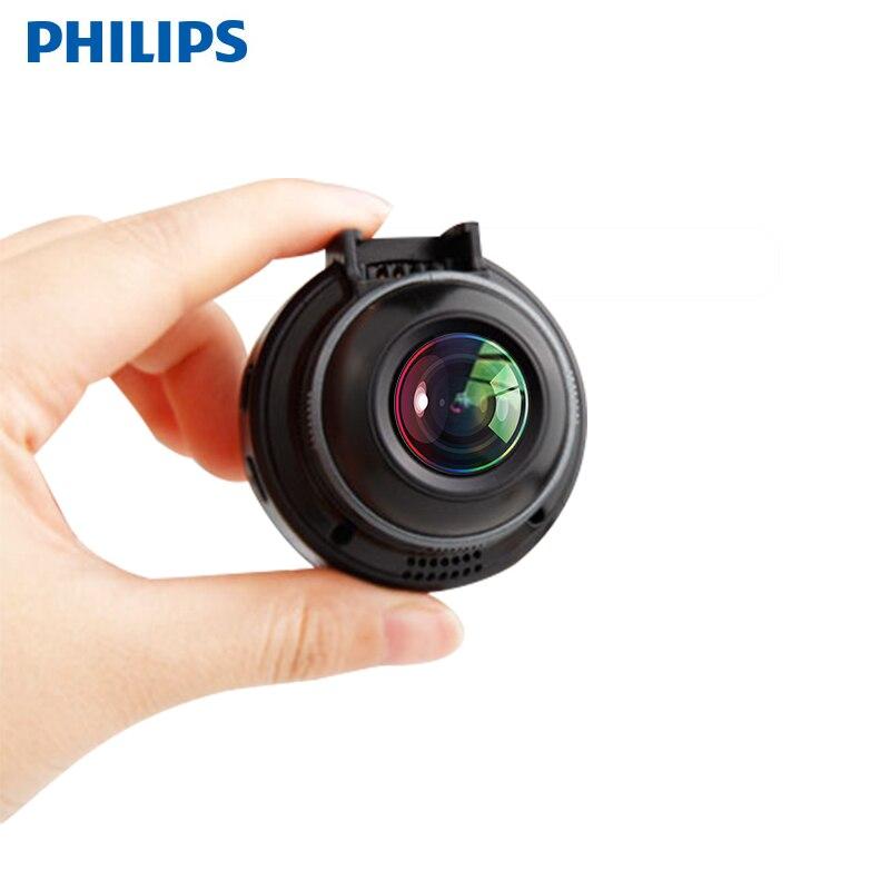 Оригинальная Скрытая Автомобильная dvr камера Philips CVR108, 130 градусов, мини-видеорегистратор с детектором движения, велосипедная записывающая ...