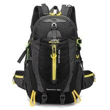 الرجال 40L للجنسين مقاوم للماء على ظهره حزمة السفر المشي لمسافات طويلة حقيبة رياضية حزمة في الهواء الطلق تسلق الجبال التخييم على ظهره للذكور