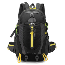 Men 40L unisex waterproof backpack travel pack  Hiking sports bag pack Outdoor Climbing Mountaineering Camping backpack for male