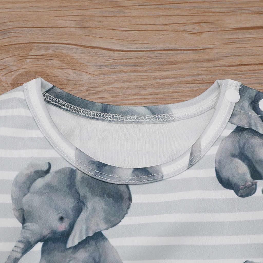 Bayi Baru Lahir Pakaian Bayi Anak Laki-laki Anak Pakaian Musim Gugur Musim Dingin Kartun Gajah Baju Monyet Jumpsuit Playsuit Pakaian Bayi Kostum