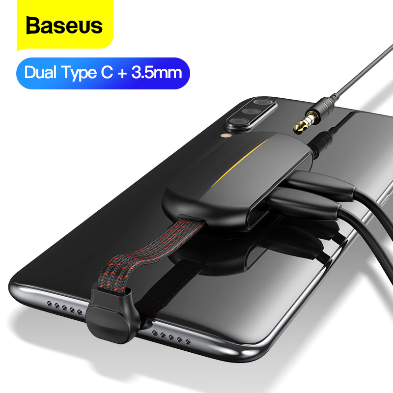 Baseus Type C PD 18W Quick Charging Adapter OTG Usb Jack 3.5mm Aux Earphone Adapter For Xiaomi Mi Note 8 Pro Huawei Samsung