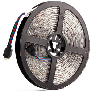 Image 1 - 5050 24 12v ledストリップライト防水rgb rgbw rgbww led照明ストリップ5メートル60leds/メートル柔軟なledランプストリップテレビバックライト24v
