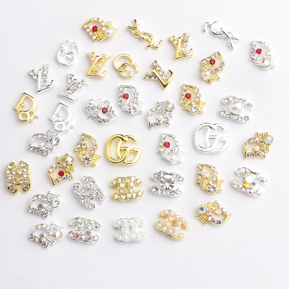 10pcs/lot 3d Alloy Nail Art Decorations Supplies Crystals Stones Rhinestones Gems Nails Decoration Accessories Jewelry Charms