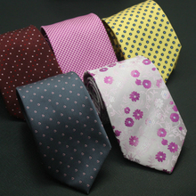 35 Styles Mens Ties Solid Colors Stripe Flower Floral Business Jacquard Necktie Accessories Daily Wear Cravat Wedding Party Gift