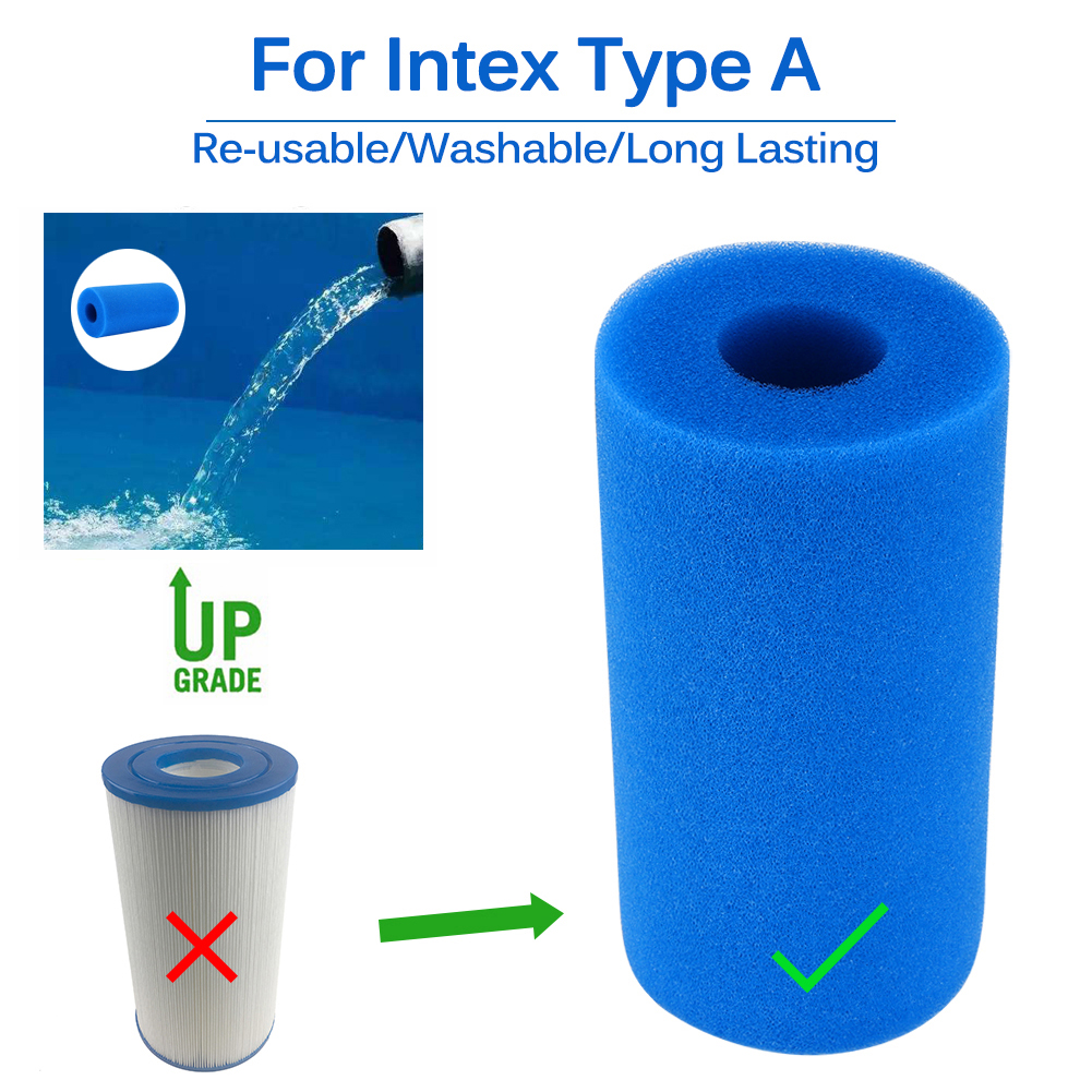 Long Lasting Cleaner Portable Accessories Reusable Swimming Pool Filter Foam Sponge Washable Bubble Column For Intex Type A