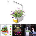 Комнатный умный светодиодный светильник для выращивания растений  садовая гидропоника  система выращивания  встроенный светильник с двумя...