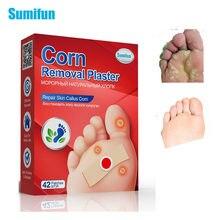 Sumifun-Parche para cuidado del pie, parches médicos de callos de Ojo de pollo, Calaveras, pegatinas de Espina de verrugas, almohadillas de eliminación de maíz para pies, 42 Uds.