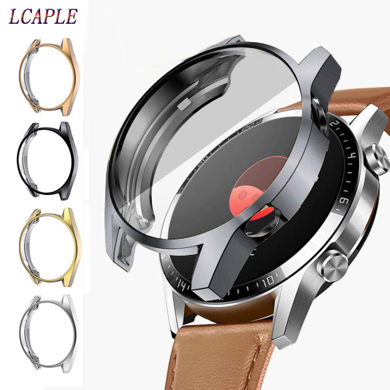 TPU Case For HUAWEI Watch GT 2 46mm Strap Band Soft Plated All-Around Screen Protector Cover Bumper Huawei Watch 2 Pro/GT2 46 Mm