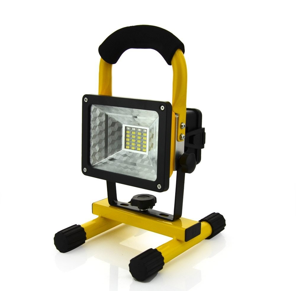 Floodlight 30W LED Spotlight Rechargeable Flood Light Handheld Searchlight Outdoor Camping Lantern Project Construction Lamp
