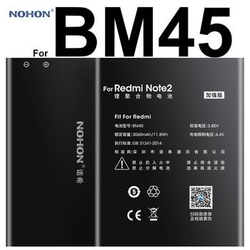 100% Original NOHON Li-ion Battery 3060 mAh BM45 For Xiaomi RedMi Note 2 Hongmi Red Rice Note2 High Capacity Replacement Bateria